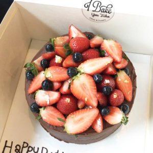 เค้กวันเกิด dark chocolate xtra-berry 2 ปอนด์